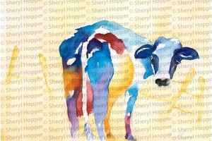 Cow by Sherryl Hopper