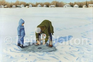 Ice Fishing by Keith Walton