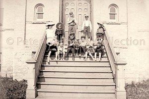 Kids on Stairs by Peter Galloway Collection
